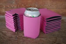 LOT of 100 PINK Can Coozies Blank Beer Soda Coolers 12 oz Printable Coolies
