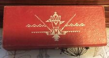 Vintage Antique Rare School Pen Pencil Box Holder Case Leatherette Nov Co R I