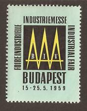 Hungary 1959 International Trade Fair Cinderella.(MNH)