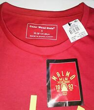 Cedar Wood State / Primark 'Malmö Motor Group' Sweden Graphic T-Shirt S Red NWT!