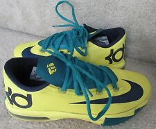 Nike Boys (GS) KD 6 Style 599477-700 Sz 3.5Y Yellow/ Navy/ Teal