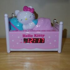 Sanrio Hello Kitty AM FM Radio Snooze Button LED Alarm Clock Nightlight - KT2052