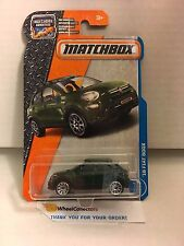 '16 Fiat 500X #3 * Green * Matchbox 2017 * Case D & C