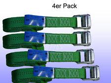 4er Pack Spanngurt, Zurrgurt mit Klemmschloss Grün 35 mm 600 daN L = 10m