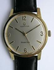 VINTAGE CERTINA BRISTOL 230 KAL.25-66 YELLOW GOLD PLATED MEN'S WRIST WATCH SWISS