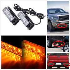8LED Car Truck Emergency Beacon Light Bar Hazard Strobe Warning Amber Waterproof