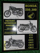 HONDA 250 300 C72 C77 CS72 CS77 CB72 CB77 HAWK FACTORY WORKSHOP MANUAL 1961-1968