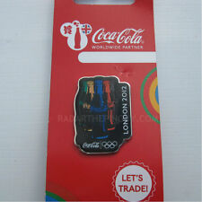 2012 London Summer Olympic Coca Cola Dated Bottles Pin