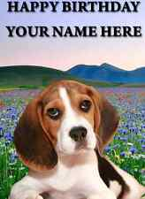 Beagle card Happy Birthday A5 Personalised Greeting Card pid256