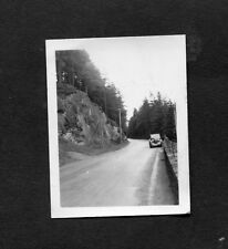 C1950's Original Photo of a Car parked on a Mountain Road