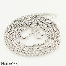 """75% OFF Xmas Wholesale Hermosa® 925 Sterling Silver Tiny Chain Necklaces 16"""""""