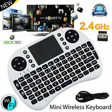 Nuevo Teclado Inalámbrico 2.4G Volar Aire QWERTY Touchpad para PC Laptop Android TV Box