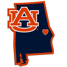 Auburn Tigers Home State Vinyl Auto Decal NCAA Licensed Football Made In USA