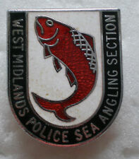 WEST MIDLANDS POLICE SEA ANGLING SECTION Old/Vintage Enamel Pin Badge FISHING