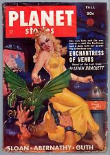 20c FICTION HOUSE Pulp Mag Fall 1949 PLANET STORIES Leigh Brackett GLOSSY UNREAD