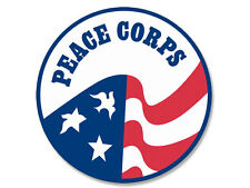 4x4 inch ROUND Peace Corps Seal Sticker - decal logo insignia relief help served
