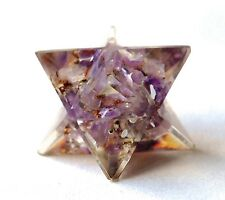 REIKI ENERGY CHARGED AMETHYST ORGONE CRYSTAL MERKABA STAR POWERFUL HEALING STONE