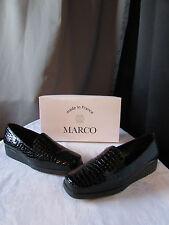 chaussures marco cuir vernis noir modèle claudia pointure 8