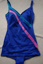 Cute Vintage Women's  ILGWU Mainstream 1970s Swim Dress Swimsuit Bathing Suit