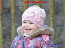 Knitting Pattern - Cherry Flower Hat (All sizes)