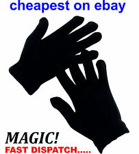Black Magic Gloves 12 Pairs Unisex Men Ladies one size Winter Wholesale Job lot