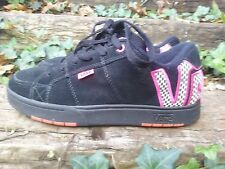 Womens Vans Skate Shoes Black/ Pink Checkerboard Size 8