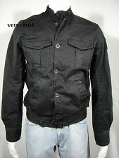 G-STAR RAW  Military/Combat Satin Cotton Twill Lorch Jacket Black Washed sz M
