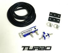 BLUE UNIVERSAL TURBO ADJUSTABLE MANUAL BOOST CONTROLLER 1-30 PSI W/ FREE EMBLEM