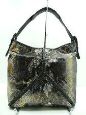 Brand New Sondra Roberts Shoulder Bag Patent Multi Leather W/Back Zip Pocket