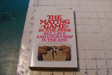 Unread Paperback, 1st Signet 1973 THE MATING GAME june johns 175pgs line on back