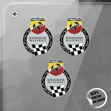 PEGATINA KIT ABARTH EDIZIONE MASERATI FIAT VINYL STICKER DECAL ADESIVI