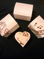 Personalised (name or message) small wooden box- gift -any theme
