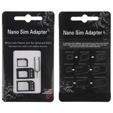 Nano 3-in-1 Adapter Kit SIM to Micro SIM to Standard Card For iPhone 4S/5S #IGN