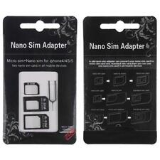 Nano 3-in-1 adattatori Kit SIM a Micro SIM a standard SIM Card per iPhone