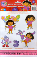 DORA THE EXPLORER window glass CLINGS 5pcs room decor Backpack Boots balloons