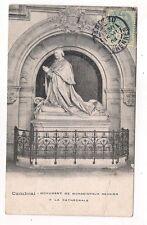 cambrai  monument de monseigneur régnier a la cathédrale