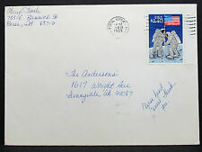 US Cover Boise Postal Service Hand Cancel Moon Landing Stamp USA Brief (H-7241