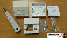 Genuine BT MASTER SOCKET VDSL2 / ADSL Telefono filtro FACEPLATE + BOX 4 Openreach NTE5