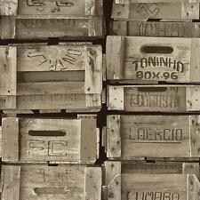 Vlies Tapete P+S TIMES 42108-30 Holz Kisten Vintage Struktur braun beige weiß