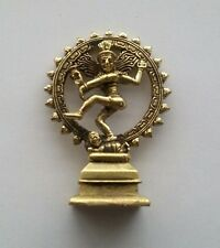 Hindu Lord Shiva Nataraja Statue Lord of Dance Brass Metal Miniature Figure #ZS3
