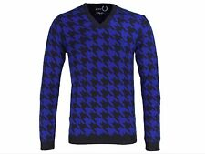 FINAL PRICE REDUCTION! NEW FRED PERRY RAF SIMONS HOUNDSTOOTH SWEATER JUMPER 36""