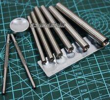Lot of 10 Leathercraft DOMED Rivet Snap Stud Setter Base Tool kit 5/6/7/8/9/10mm