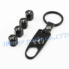 Key chain Black Metal Car Wheel Tyre Tire Stem Air Valve Cap Slam Dunking Jordan