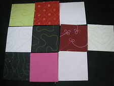 Job Lot CREATIVE EMBROIDERED Handmade Paper Pack 10 Sheets 6x6 NEW  TEXTURED