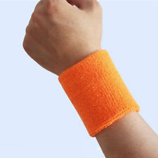 1x New Sports Wristband Sweatband Wrist Wristband Yoga Wristbands -Orange DY