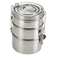 King International - Stainless Steel Vintage Wire tiffin box 10cm (3 Tier)
