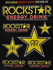 Rockstar Energy Sticker Sheet Motocross MotorGP Bike Decal KTM BMX MTB ATV CAR