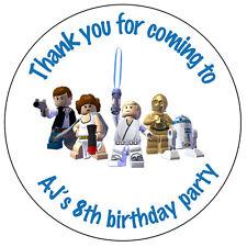 Large personnalisé star wars anniversaire autocollants parti vous remercier joints - 79