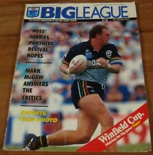 1992.Signed Brad Clyde,Laurie Daley.Signature.BIG LEAGUE Magazine.Rugby.Football
