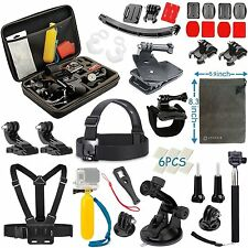Vanwalk 16 in 1 Accessori Kit per GoPro Hero 4 Nero Argento Session Hero + LCD